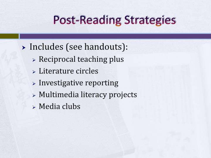 Post-Reading Strategies