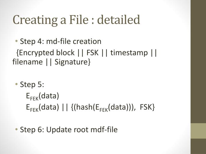 Creating a File :