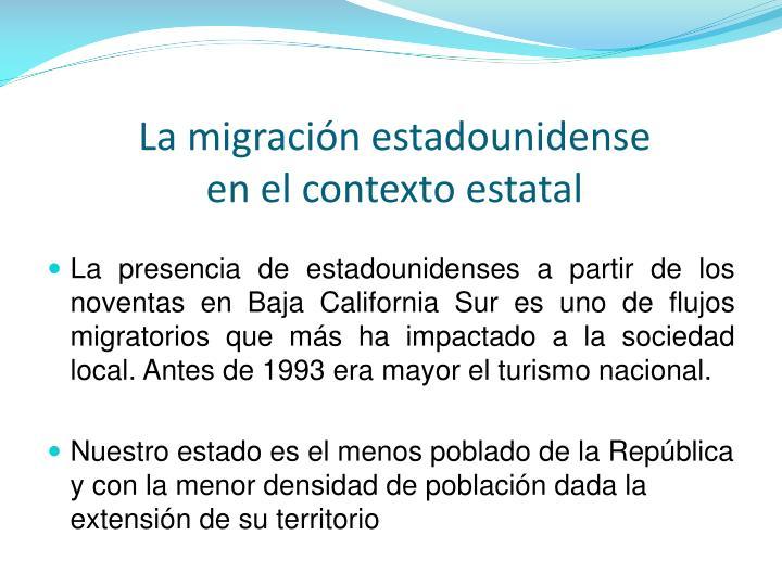 La migración estadounidense