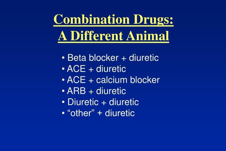 Combination Drugs: