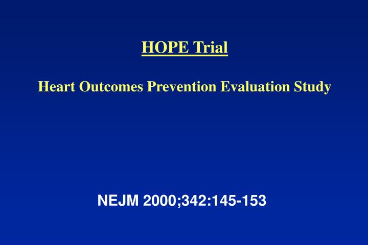 HOPE Trial