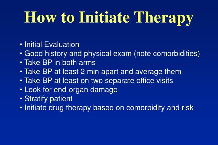 How to Initiate Therapy