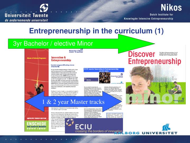 Entrepreneurship in the curriculum (1)