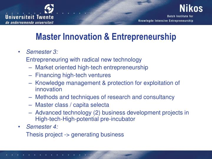 Master Innovation & Entrepreneurship