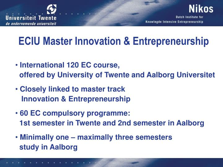 ECIU Master Innovation & Entrepreneurship