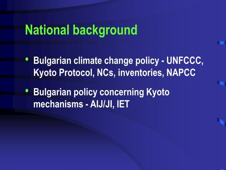 National background