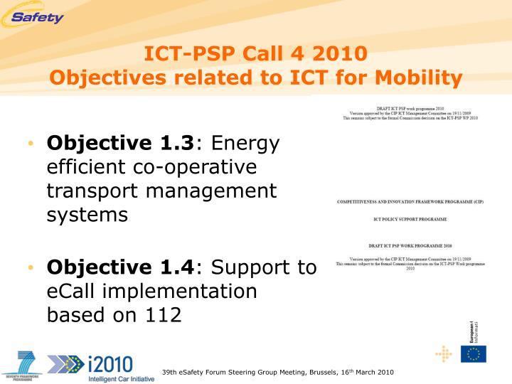 ICT-PSP Call 4 2010