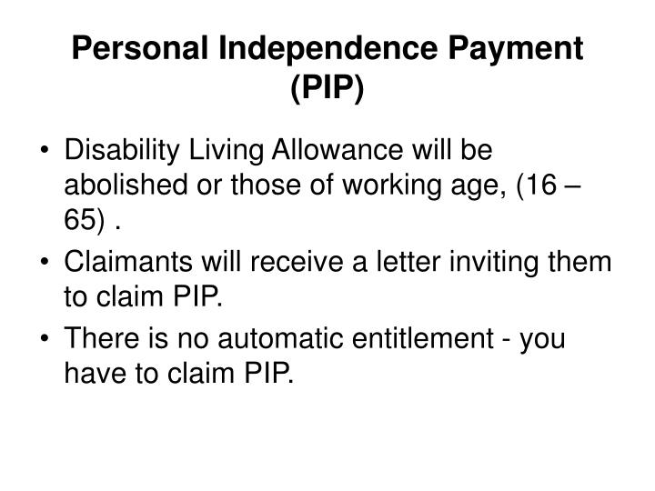 Personal Independence Payment (PIP)