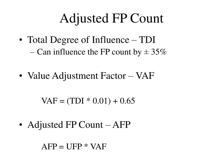 Adjusted FP Count