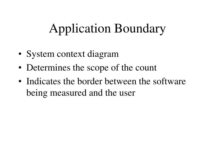 Application Boundary