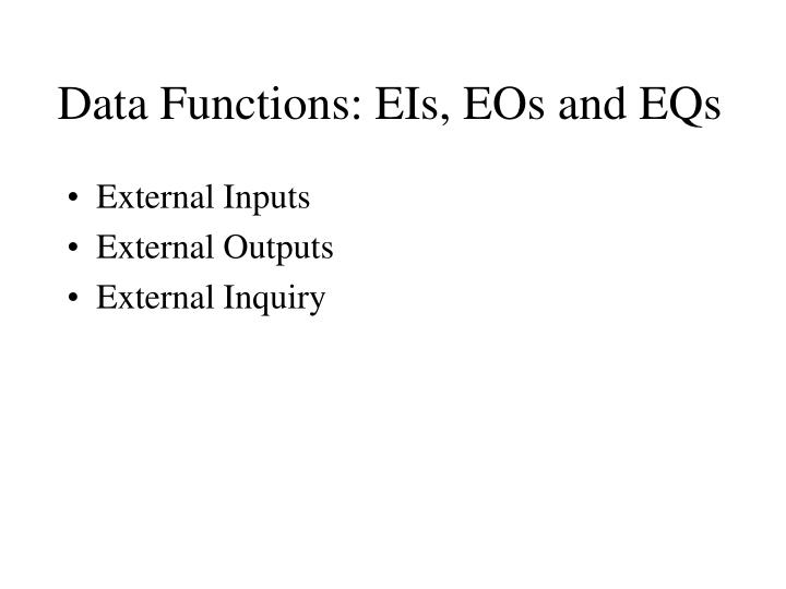 Data Functions: