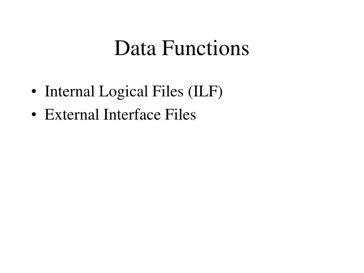 Data Functions