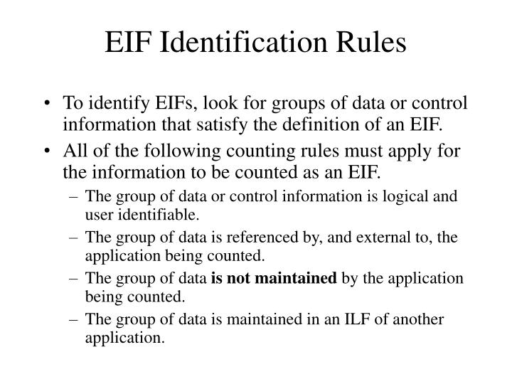 EIF Identification Rules