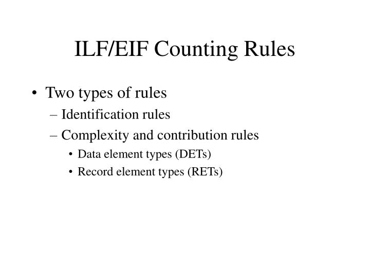 ILF/EIF Counting Rules