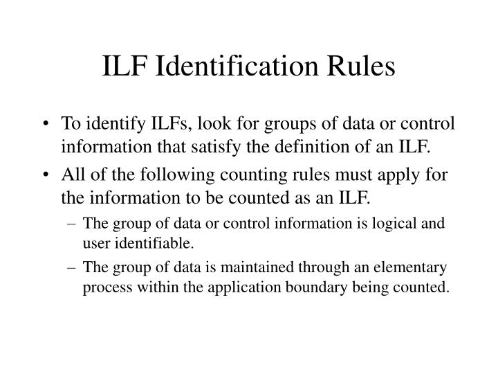ILF Identification Rules