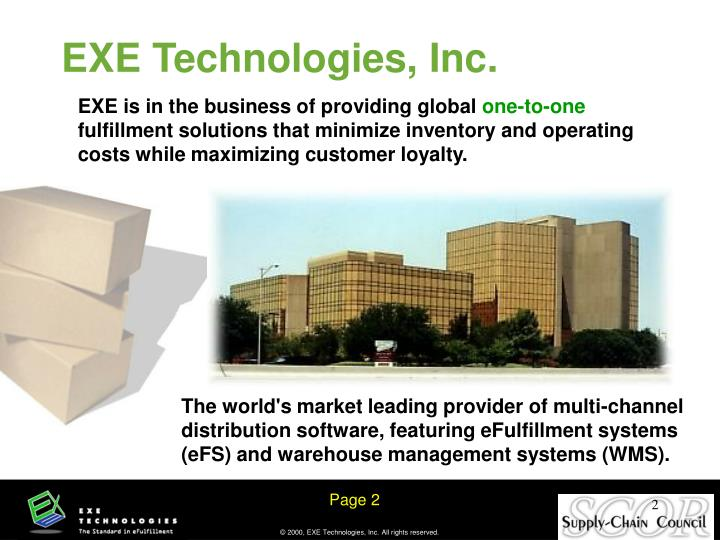 EXE is in the business of providing global