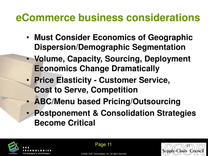 eCommerce business considerations