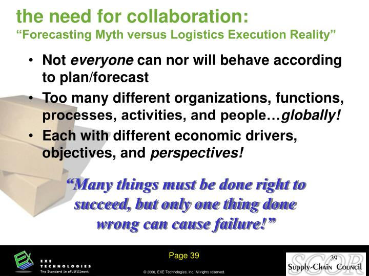 the need for collaboration: