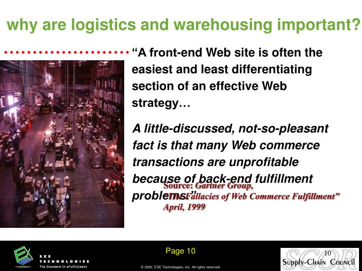 why are logistics and warehousing important?