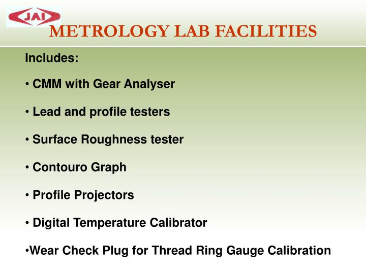 METROLOGY LAB FACILITIES