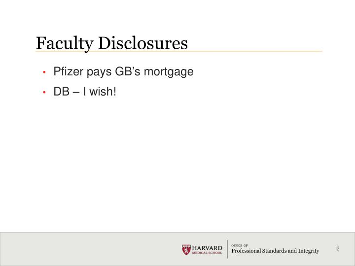 Faculty disclosures