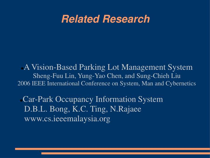 A Vision-Based Parking Lot Management System
