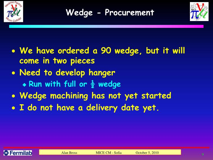 Wedge - Procurement