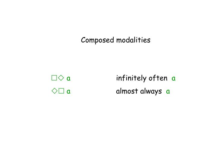 Composed modalities