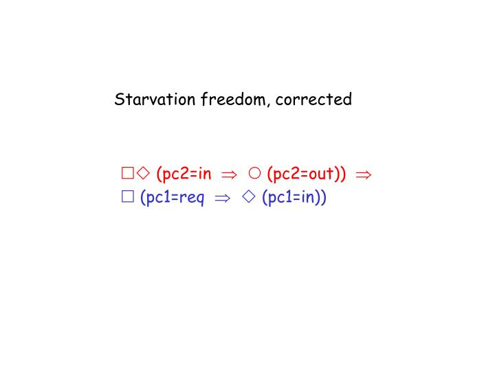 Starvation freedom, corrected