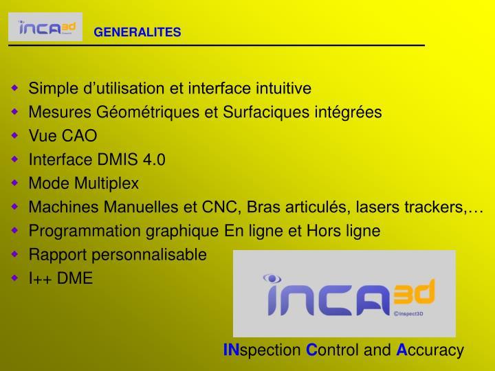 Produits Inca3D 3