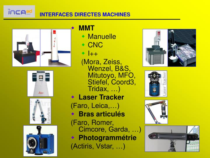 INTERFACES DIRECTES MACHINES