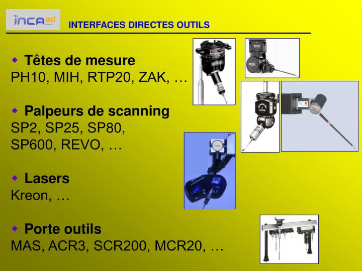 INTERFACES DIRECTES OUTILS