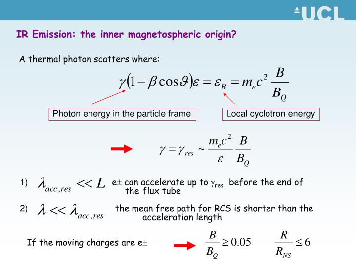 Photon energy in the particle frame