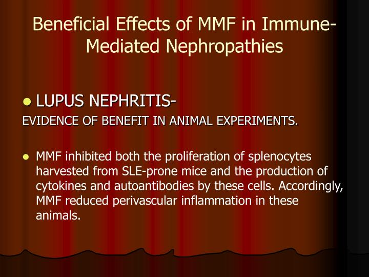 Beneficial Effects of MMF in Immune-