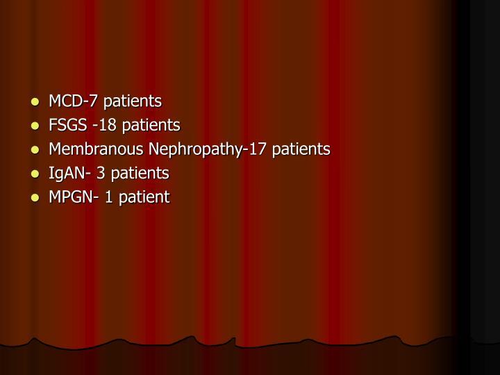 MCD-7 patients