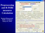 preprocessing and r fmri measures calculation22