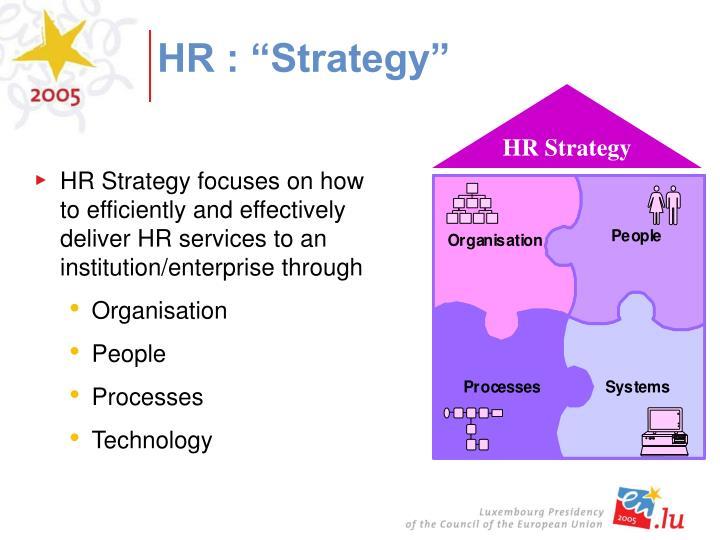 "HR : ""Strategy"""