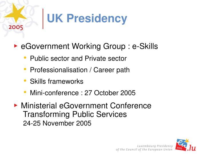UK Presidency
