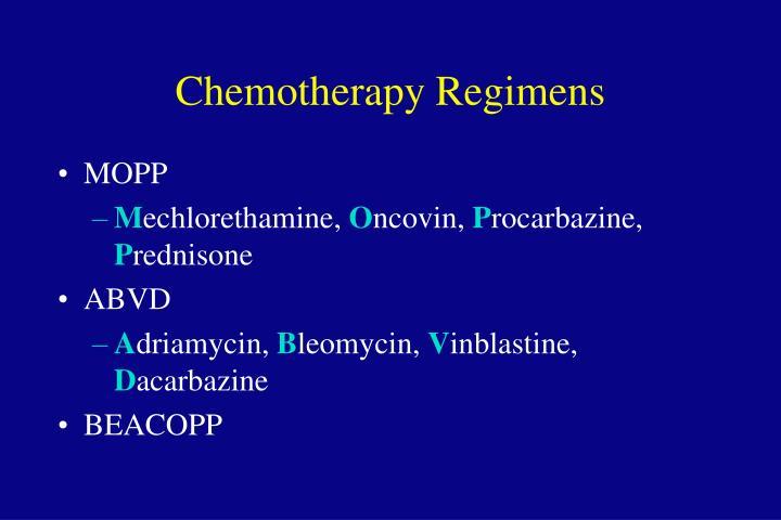 Chemotherapy Regimens