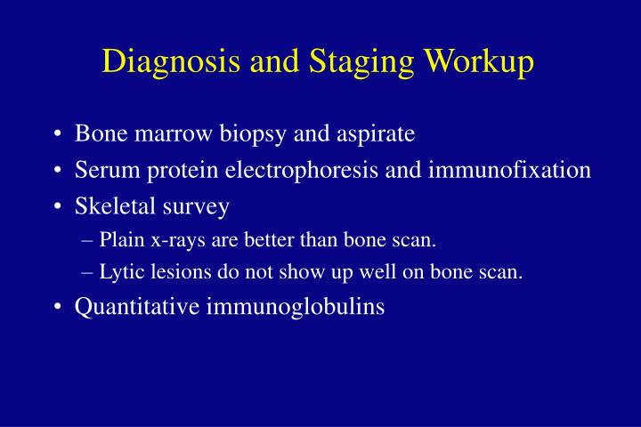 Diagnosis and Staging Workup