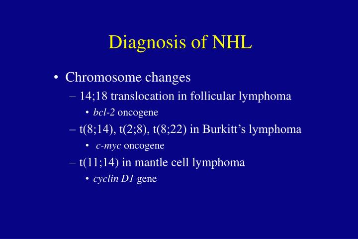 Diagnosis of NHL