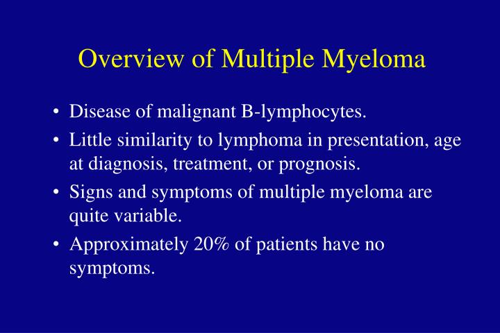 Overview of Multiple Myeloma