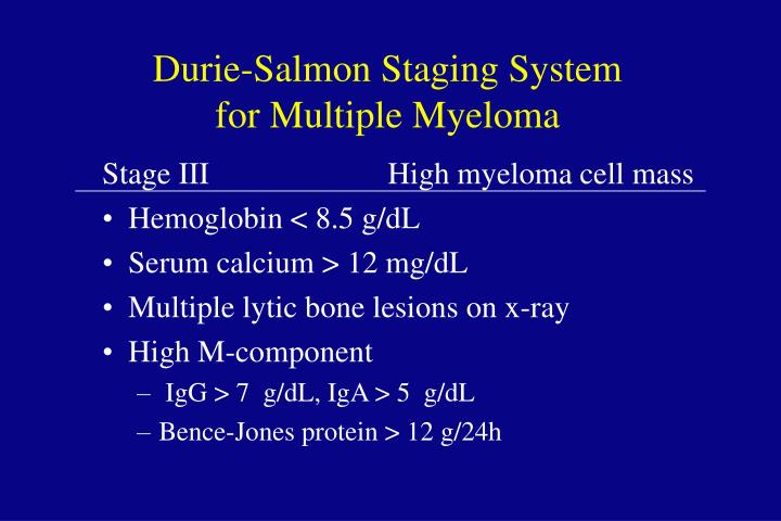 Durie-Salmon Staging System