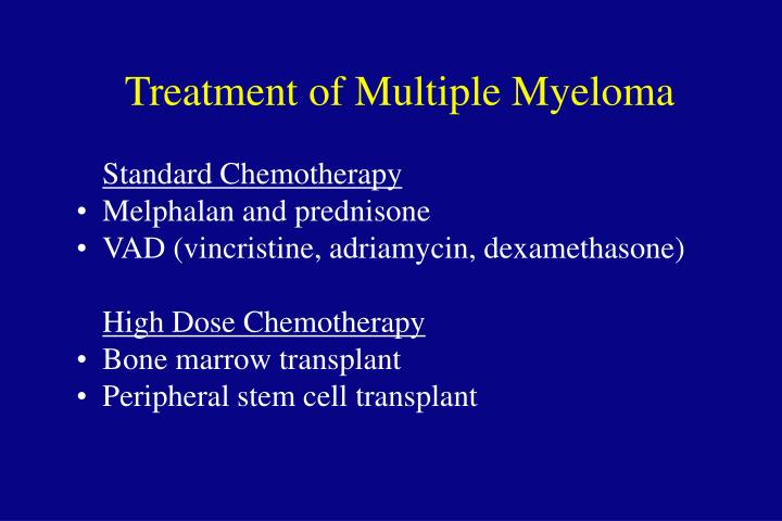 Treatment of Multiple Myeloma
