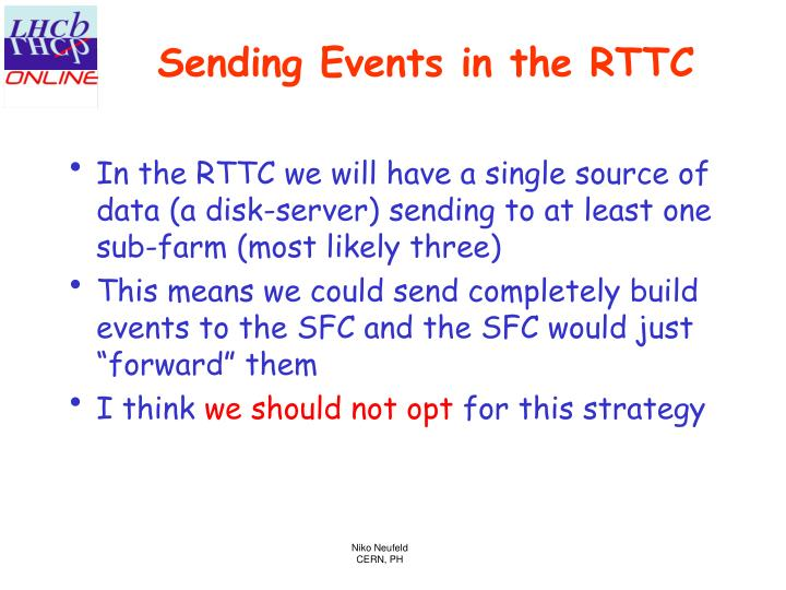 Sending events in the rttc
