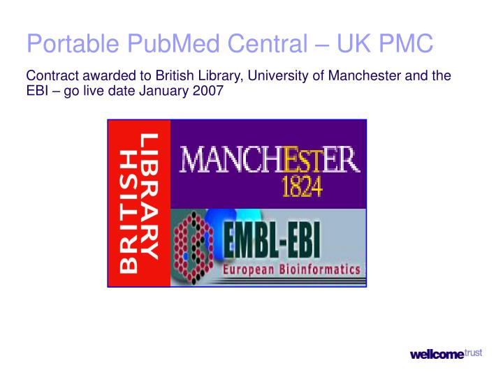 Portable PubMed Central – UK PMC