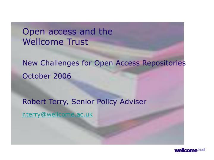 Open access and the