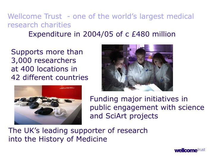 Wellcome Trust  - one of the world's largest medical research charities
