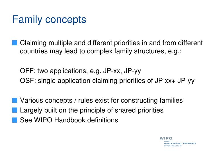 Family concepts