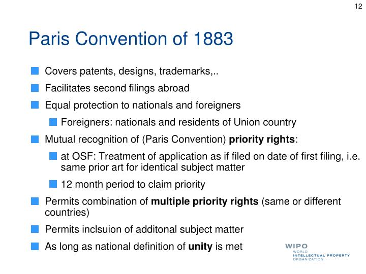 Paris Convention of 1883
